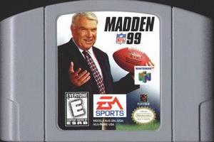 Madden NFL 99 (USA) Cart Scan